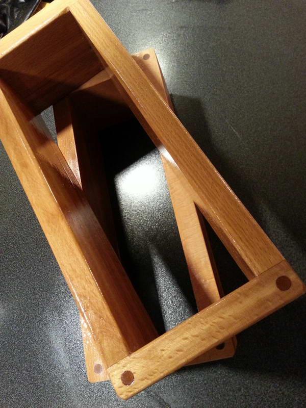 Godt olie indsmurte træbageforme